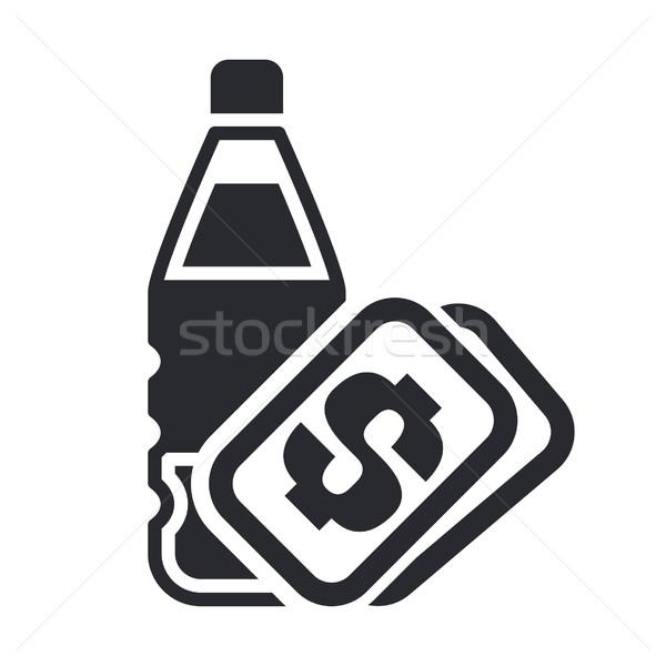 бутылку цен икона фрукты пить Сток-фото © Myvector