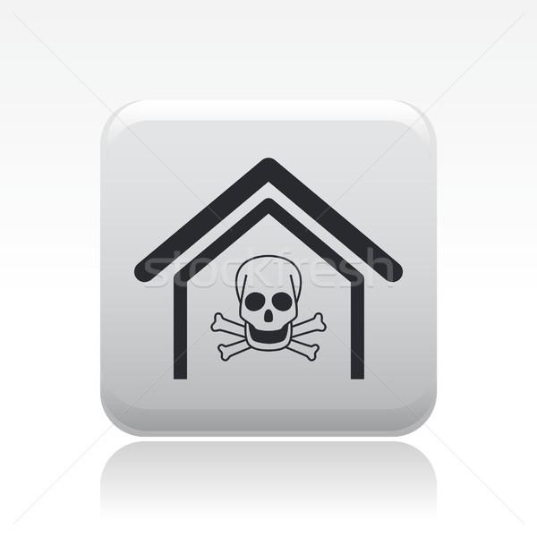 опасный домой икона Сток-фото © Myvector