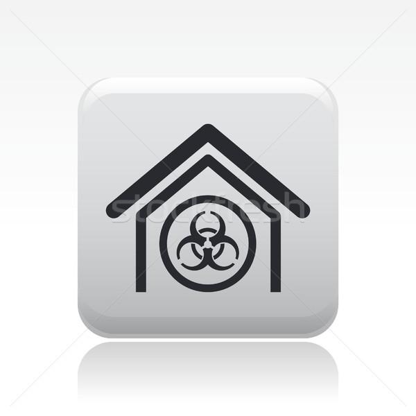 Biologico pericolo icona casa home etichetta Foto d'archivio © Myvector