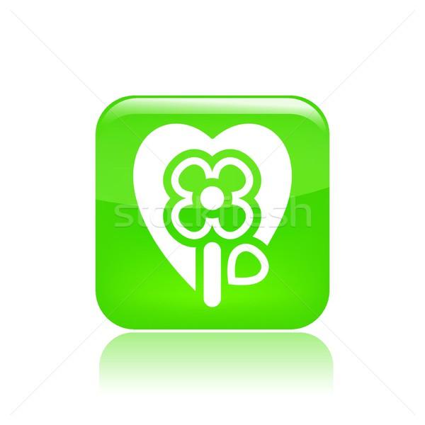 çiçek tutku ikon sevmek kalp bahçe Stok fotoğraf © Myvector
