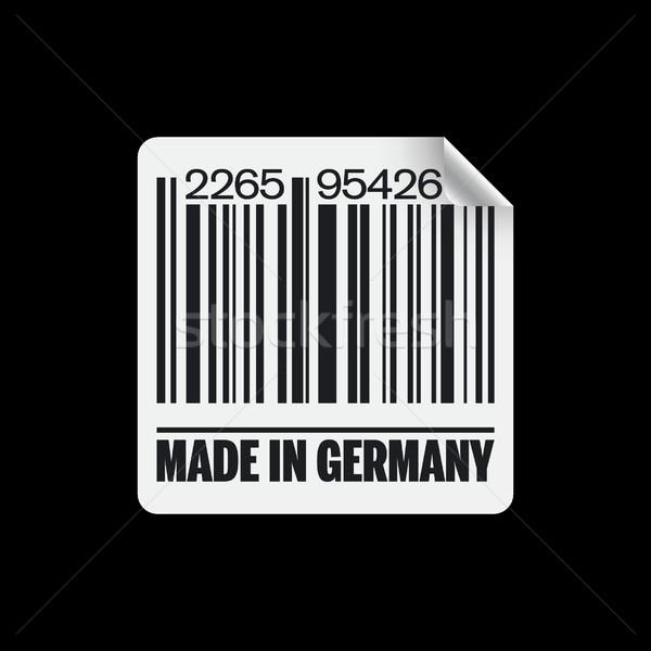 Alemanha ícone mercado nosso código de barras comércio Foto stock © Myvector