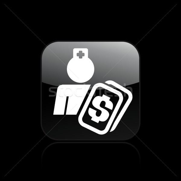Medische kosten icon geneeskunde zorg geïsoleerd Stockfoto © Myvector