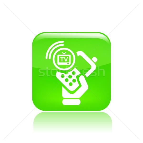 Phone tv icon Stock photo © Myvector