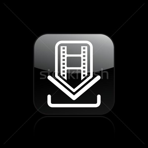 Film icône de téléchargement internet design ordinateurs vidéo Photo stock © Myvector