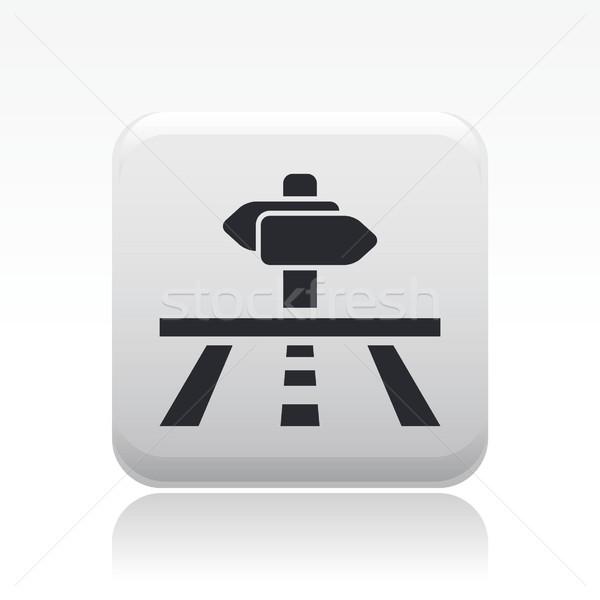 направлении икона дороги улице стрелка ходьбы Сток-фото © Myvector