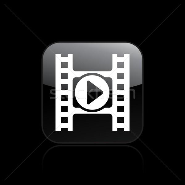 Videó játékos ikon film keverő Stock fotó © Myvector