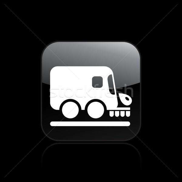Stockfoto: Weg · schonere · icon · vrachtwagen · schone