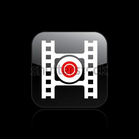 запись кнопки икона фильма Сток-фото © Myvector