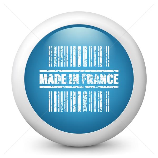 Kék fényes ikon piac vásár címke Stock fotó © Myvector