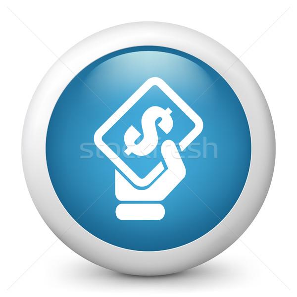 Niebieski ikona ceny pojęcia Zdjęcia stock © Myvector