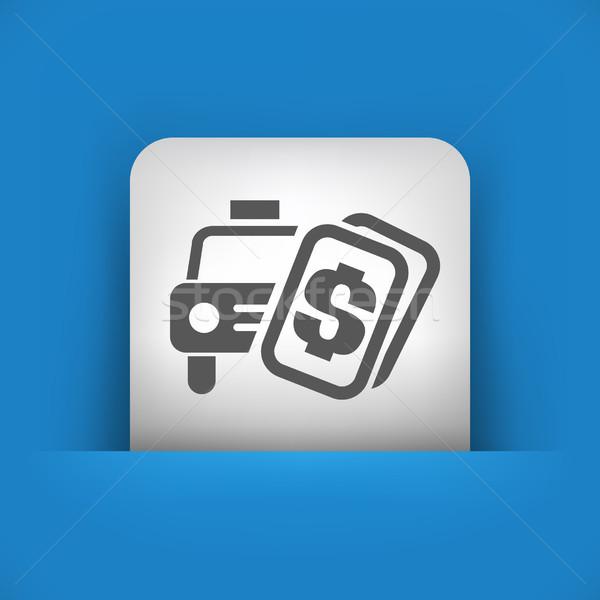 Single blue and gray icon Stock photo © Myvector