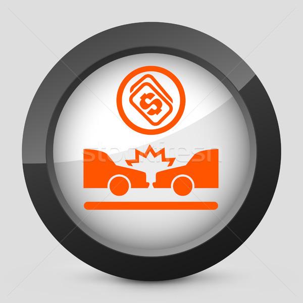 Elegant orange glossy icon Stock photo © Myvector