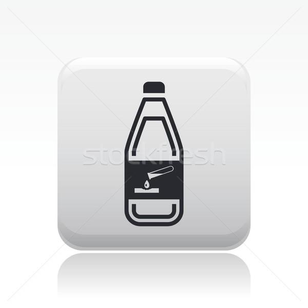 Veszélyes üveg ikon vegyi folyadék szennyezés Stock fotó © Myvector