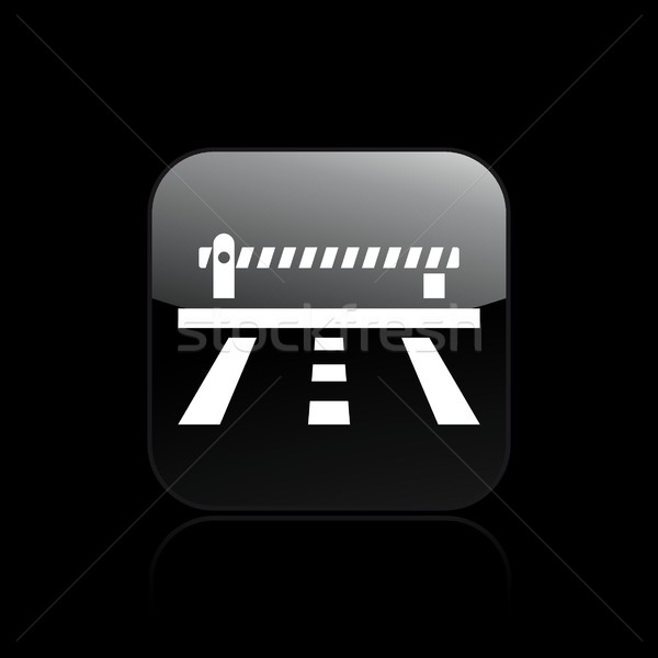 Road barrier icon Stock photo © Myvector