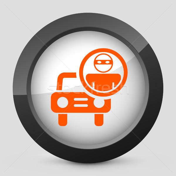 Stock fotó: Elegáns · narancs · fényes · ikon