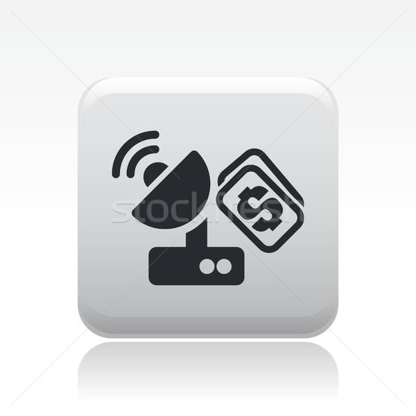 Antena icono satélite comprar concepto Foto stock © Myvector
