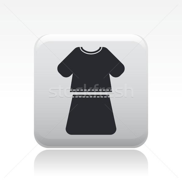 Donna abito icona ragazza femminile shirt Foto d'archivio © Myvector