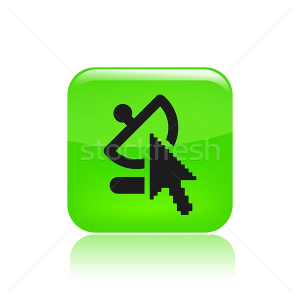 Web antenna icon Stock photo © Myvector