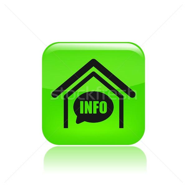 Domu info ikona wiadomości danych pojęcia Zdjęcia stock © Myvector