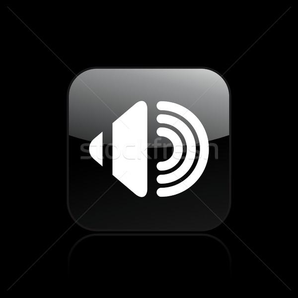 Ses ikon müzik dizayn konuşmacı kavram Stok fotoğraf © Myvector
