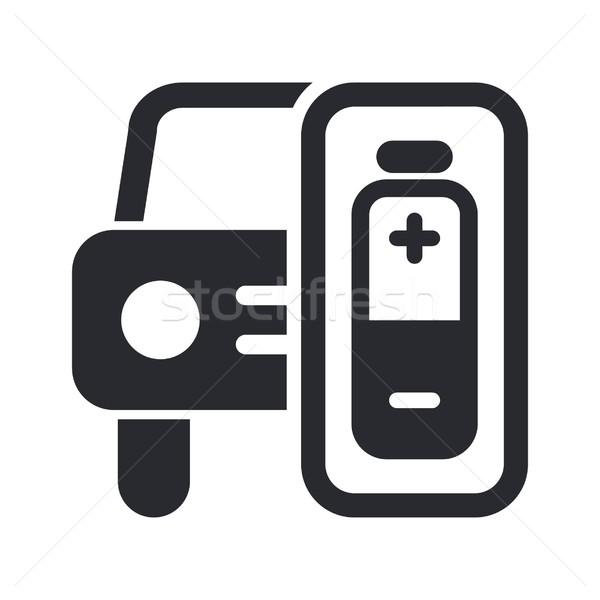 Carro energia ícone móvel conceito bateria Foto stock © Myvector