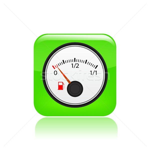 бензина икона концепция топлива контроль вектора Сток-фото © Myvector
