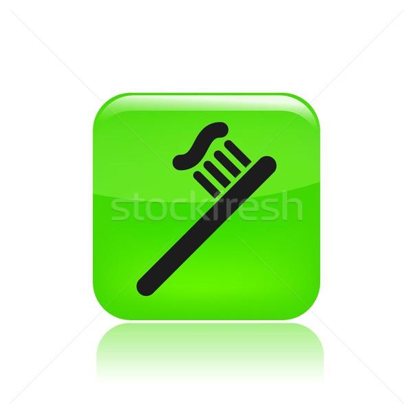 Escova de dentes ícone limpar Foto stock © Myvector