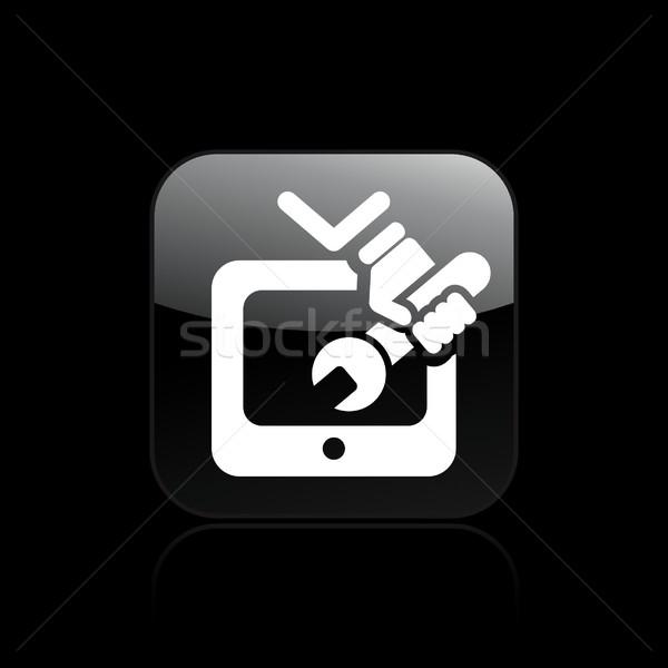 телевизор ремонта икона Сток-фото © Myvector