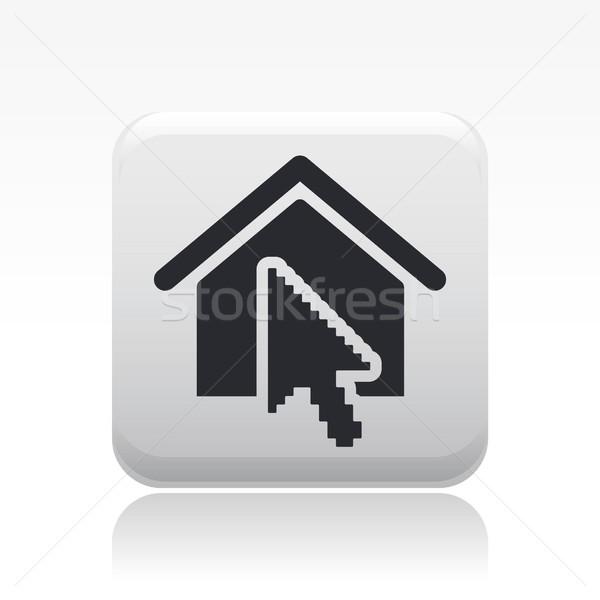 домой кнопки икона дома интернет недвижимости Сток-фото © Myvector