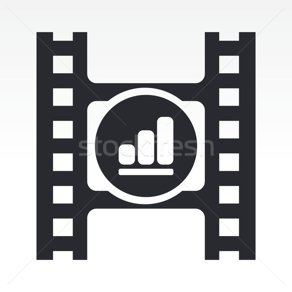 объем видео кнопки фильма Сток-фото © Myvector