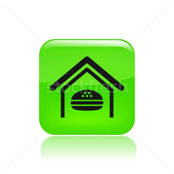 Icon voedsel vector snack voeding Stockfoto © Myvector