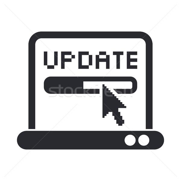 Aktualisieren Symbol Internet Design Maus Web Stock foto © Myvector