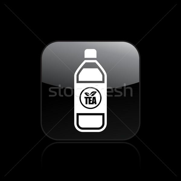 çay şişe ikon bar içmek konteyner Stok fotoğraf © Myvector