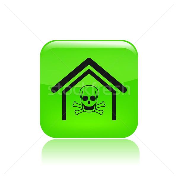 Perigoso casa ícone Foto stock © Myvector