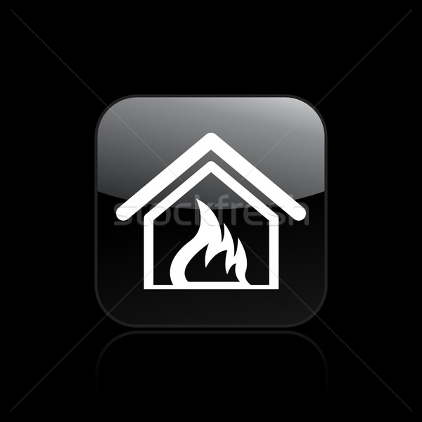 Brand home icon vlam appartement concept Stockfoto © Myvector