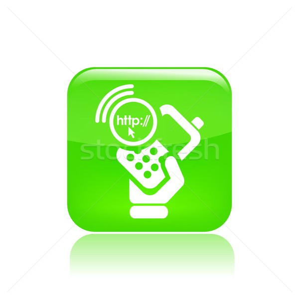 Phone connection icon Stock photo © Myvector