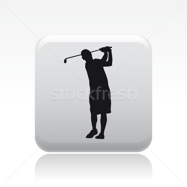 Golf player icon Stock photo © Myvector