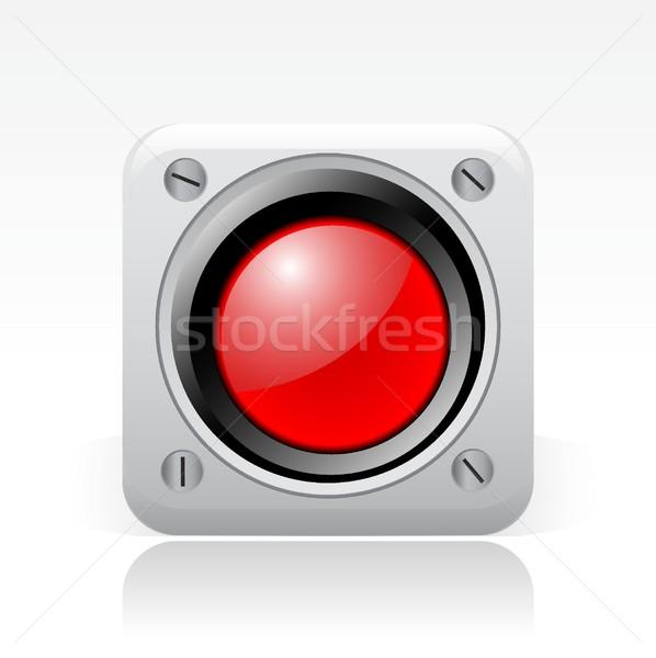 Piros jel ikon Stock fotó © Myvector