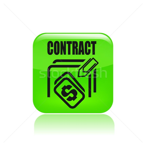 Contract price icon Stock photo © Myvector
