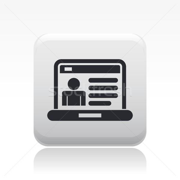 Web cuenta icono diseno perfil sitio web Foto stock © Myvector