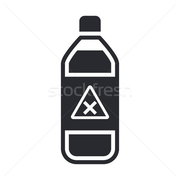 Gefährlich Flasche Symbol Label Stock foto © Myvector
