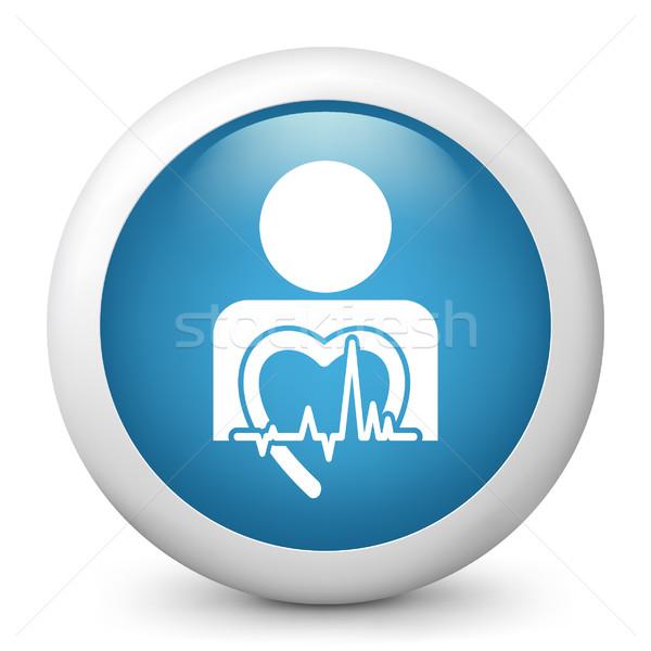 Azul ícone saúde Foto stock © Myvector