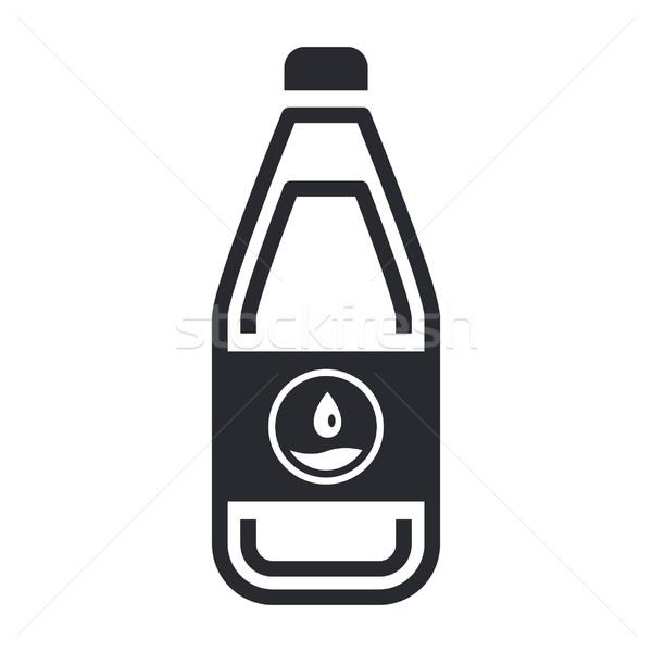 Fles icon water vloeibare label Stockfoto © Myvector