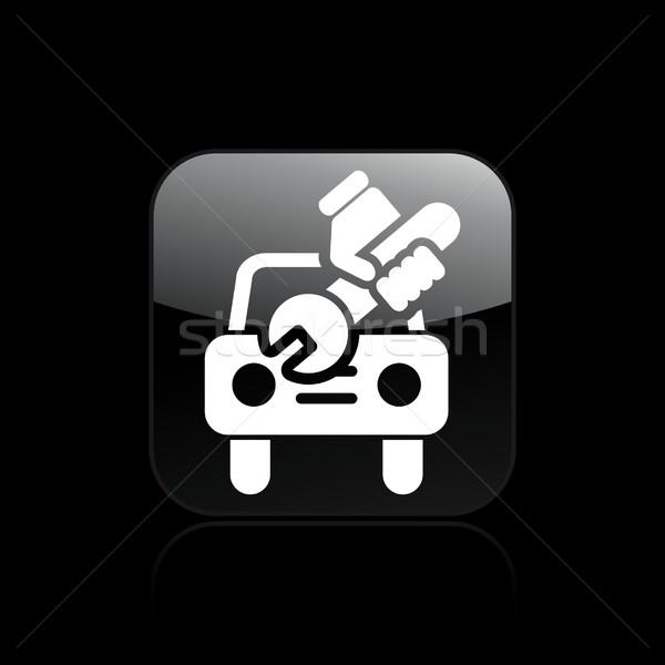 Naprawa samochodów ikona wypadku naprawy techniczne Zdjęcia stock © Myvector