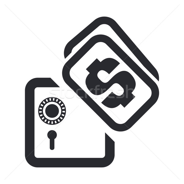 bank safety box icon Stock photo © Myvector