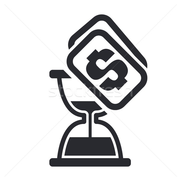 Ampulheta ícone dinheiro preço Foto stock © Myvector