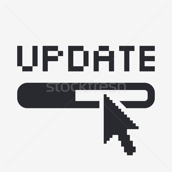 Stockfoto: Bijwerken · icon · muis · computers · web · www