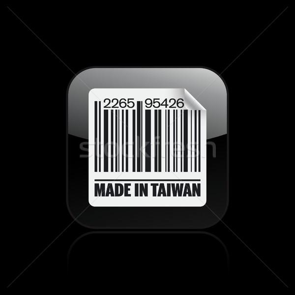 Tayvan ikon baskı pazar mürekkep Asya Stok fotoğraf © Myvector