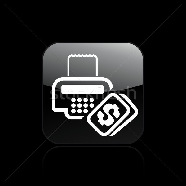 Cash icon geld ticket Stockfoto © Myvector