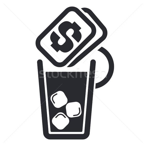 Сток-фото: пить · цен · икона · деньги · чай · коктейль